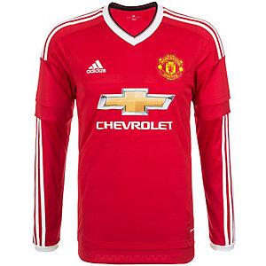 adidas Manchester United 15/16 Heim Fußballtrikot Herren rot / weiß