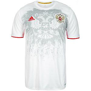 adidas Russland EM 2016 Auswärts Fußballtrikot Herren weiß / grau / rot