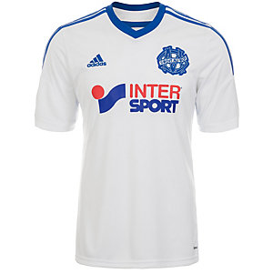 adidas Olympique Marseille 14/15 Heim Fußballtrikot Herren weiß / blau