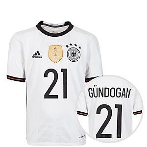 adidas DFB Trikot Gündogan EM 2016 Heim Fußballtrikot Kinder weiß / schwarz