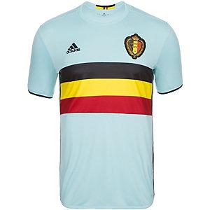 adidas Belgien EM 2016 Auswärts Fußballtrikot Herren hellblau / schwarz
