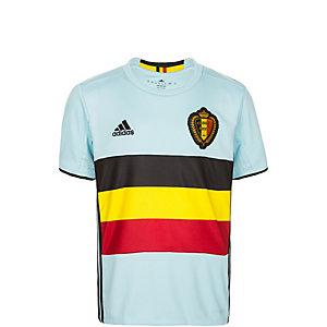adidas Belgien EM 2016 Auswärts Fußballtrikot Kinder hellblau / schwarz