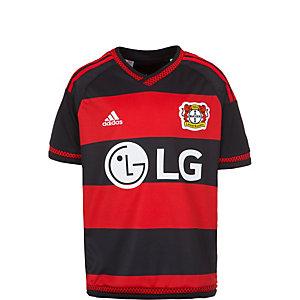 adidas Bayer 04 Leverkusen 15/16 Heim Fußballtrikot Kinder schwarz / rot / weiß