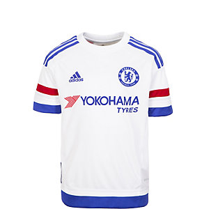 adidas FC Chelsea 15/16 Auswärts Fußballtrikot Kinder weiß / blau / rot