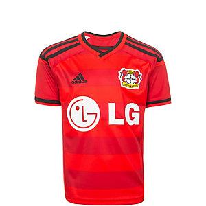 adidas Bayer 04 Leverkusen 15/16 Auswärts Fußballtrikot Kinder rot / schwarz