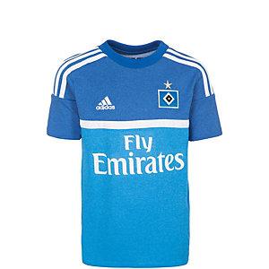 adidas Hamburger SV 15/16 Auswärts Fußballtrikot Kinder blau / weiß
