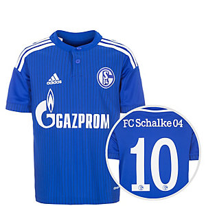 adidas FC Schalke Draxler 14-16 Heim Fußballtrikot Kinder blau / weiß