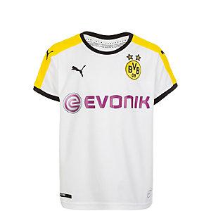 PUMA Borussia Dortmund 15/17 3rd Fußballtrikot Kinder weiß / schwarz