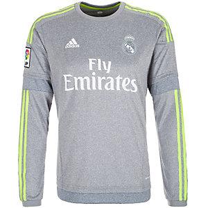 adidas Real Madrid 15/16 Auswärts Fußballtrikot Herren grau / gelb