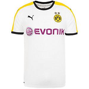 PUMA Borussia Dortmund 15/17 3rd Fußballtrikot Herren weiß / schwarz