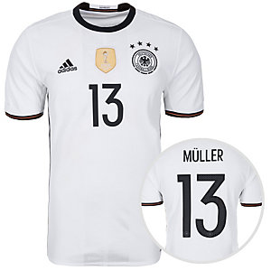 adidas DFB Trikot Müller EM 2016 Heim Fußballtrikot Herren weiß / schwarz