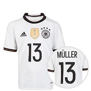 adidas DFB Trikot Müller EM 2016 Heim Fußballtrikot Kinder weiß / schwarz
