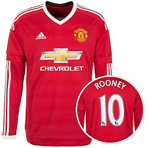 adidas Manchester United Rooney 15/16 Heim Fußballtrikot Herren rot / weiß