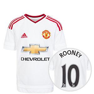 adidas Manchester United Rooney 15/16 Auswärts Fußballtrikot Kinder weiß / rot