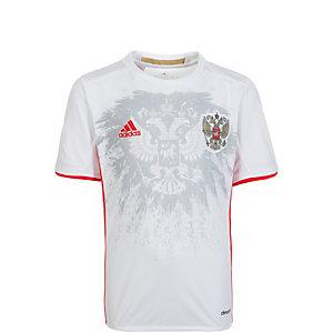 adidas Russland EM 2016 Auswärts Fußballtrikot Jungen weiß / grau / rot