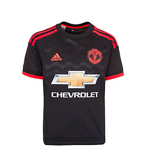 adidas Manchester United 3rd Fußballtrikot Kinder schwarz / neonrot