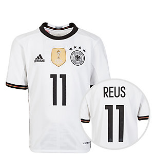 adidas DFB Trikot Reus EM 2016 Heim Fußballtrikot Kinder weiß / schwarz