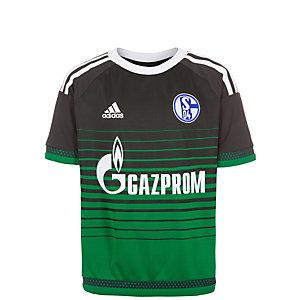 adidas FC Schalke 04 16/17 3rd Fußballtrikot Kinder anthrazit / grün