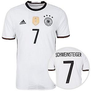adidas DFB Trikot Schweinsteiger EM 2016 Heim Fußballtrikot Herren weiß / schwarz