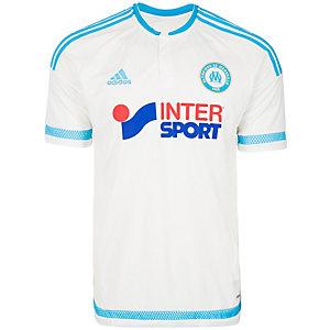 adidas Olympique Marseille 15/16 Heim Fußballtrikot Herren weiß / hellblau