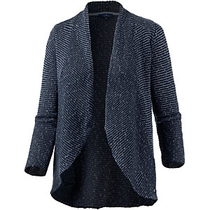 TOM TAILOR Strickjacke Damen blau melange