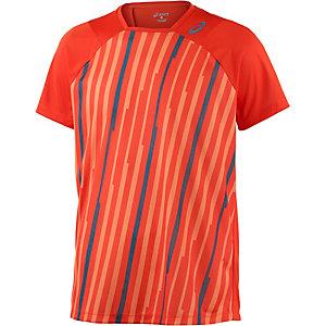 ASICS Tennisshirt Herren orange/allover
