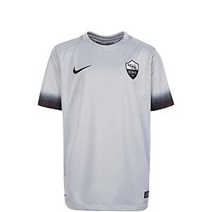 Nike AS Rom 15/16 3rd Fußballtrikot Kinder hellgrau / schwarz