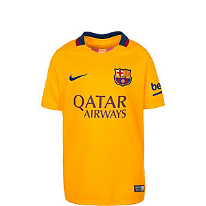 Nike FC Barcelona 15/16 Auswärts Fußballtrikot Kinder gelb / blau