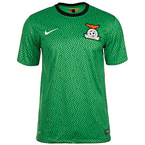 Nike Sambia 14/15 Heim Fußballtrikot Herren grün / schwarz