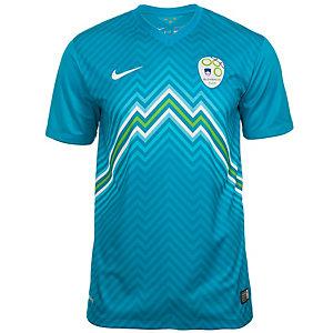Nike Slowenien 14/15 Auswärts Fußballtrikot Herren blau / weiß