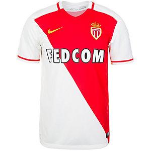 Nike AS Monaco 15/16 Heim Fußballtrikot Herren weiß / rot