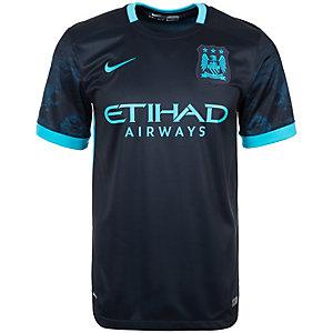 Nike Manchester City 15/16 Auswärts Fußballtrikot Herren dunkelblau / hellblau