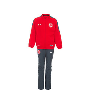 Nike Eintracht Frankfurt Trainingsanzug Kinder rot / grau