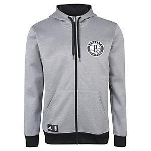 adidas Brooklyn Nets Trainingsjacke Herren grau / schwarz