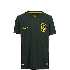 Nike Brasilien WM 2014 3rd Fußballtrikot Kinder grün / gelb
