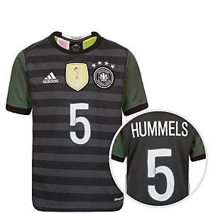 adidas DFB Hummels EM 2016 Auswärts Fußballtrikot Kinder grau / weiß / grün