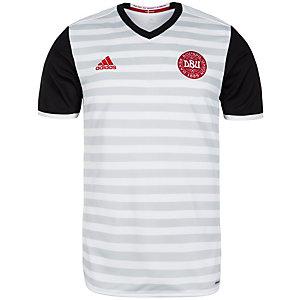 adidas Dänemark 2016 Auswärts Fußballtrikot Herren weiß / grau / schwarz