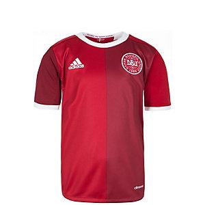 adidas Dänemark 2016 Heim Fußballtrikot Kinder rot / dunkelrot / weiß