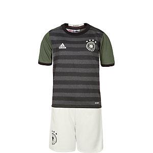 adidas DFB EM 2016 Auswärts Fußballtrikot Kinder grau / weiß / grün