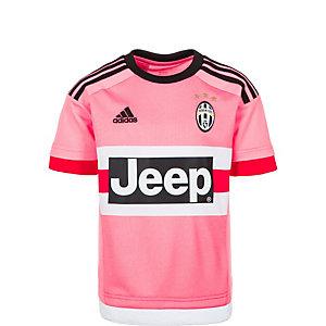 adidas Juventus Turin 15/16 Auswärts Fußballtrikot Kinder pink / schwarz / weiß