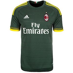 adidas AC Mailand 15/16 3rd Fußballtrikot Herren dunkelgrün / gelb