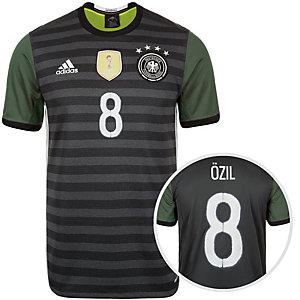 adidas DFB Özil EM 2016 Auswärts Fußballtrikot Herren grau / weiß / grün
