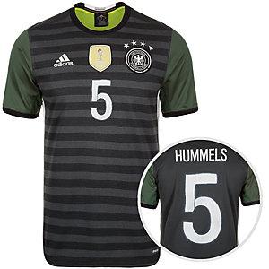 adidas DFB Hummels EM 2016 Auswärts Fußballtrikot Herren grau / weiß / grün