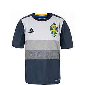 adidas Schweden EM 2016 Auswärts Fußballtrikot Kinder dunkelblau / grau