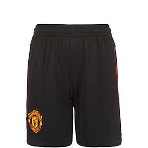 adidas Manchester United 15/16 Auswärts Fußballshorts Kinder schwarz / rot