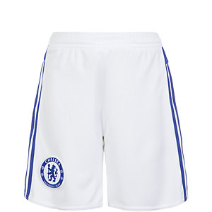 adidas FC Chelsea 15/16 Auswärts Fußballshorts Kinder weiß / blau