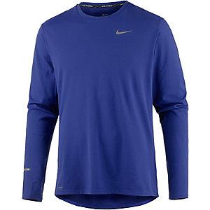 Nike Dri-Fit Contour Laufshirt Herren dunkelblau