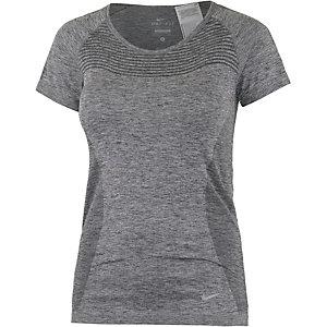 Nike Dri-Fit Knit Funktionsshirt Damen grau