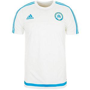 adidas Olympique Marseille Fanshirt Herren weiß / hellblau