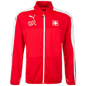 PUMA Schweiz Trainingsjacke Herren rot / weiß